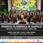 Mañana la @OFAcapulco ofrecerá concierto gratuito a las 12:30 horas en el Teatro Ocampo   #Morelos. https://t.co/xXy4njWuWC