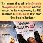 TODAY we stand in solidarity with the #FightFor15 @BernieSanders knows McDonalds can afford $15 - lets win this! https://t.co/oNAuaXN3z2