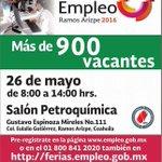 Mañana en #RamosArizpe #Coahuila llevaremos a cabo la Feria de Empleo. Más de 900 vacantes @SETRA_COAH https://t.co/j0DDEBYnbb
