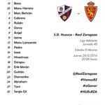 CONVOCATORIA | Lista de diecinueve jugadores convocados para el @SDHuesca - Real Zaragoza https://t.co/pYg01uwpYS https://t.co/pvKN36mO5z