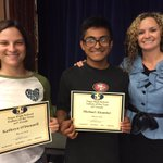 10th grade Indian of the Year recipients! Congratulations Kathryn ODonnell & Michael Alcantar! 💙💛 https://t.co/bTZCPvJcOD