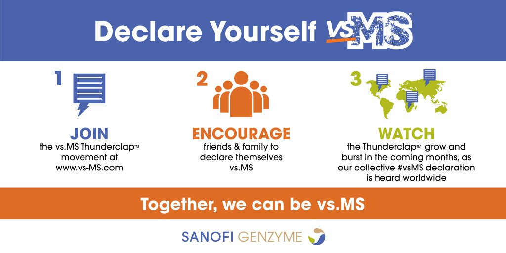 Elevate the #vsMS movement by adding your name to our @ThunderclapIt & we'll donate to #MSIF https://t.co/KCGskul6yC https://t.co/BHPbEFJx4t