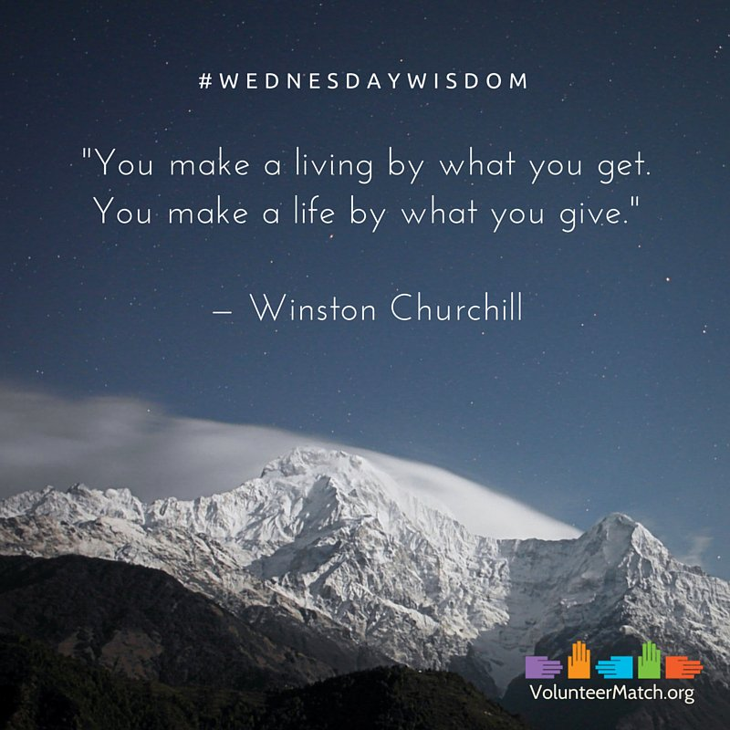 """You make a living by what you get. You make a life by what you give."" — Winston Churchill #WednesdayWisdom https://t.co/9ZC6uduW8G"