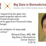Richard Chen on personalized immunotherapy and @PersonalisInc at #BigData in Biomedicine at Stanford #BigDataMed https://t.co/kpdAucozzh