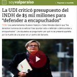 """Hoy #UDI criticó presupuesto del #INDH de $5 mil millones para """"defender a encapuchados"""". https://t.co/5KRqWV6ep4 https://t.co/LFTOi0SkBR"""
