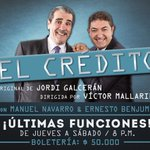#DeboConfesarQue esta es la ultima semana de #ElCredito en la ciudad de #Medellin en @ElTeatrico https://t.co/dS8nmWH19q
