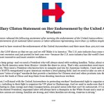 Proud that Hillary received the endorsement of @UAW and their members. #ImWithHer https://t.co/MO50XiyEJE