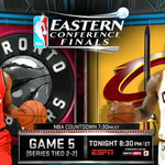 Home team has won all 7 games between these two teams this season (reg season/playoffs). Game 5 tonight on ESPN. https://t.co/BJYk2oxF8e