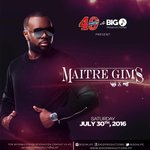 Big O Productions @bigo4life & Prestige @labiereprestige present Maitre Gims @maitregims July 30th! #Haiti 😁 https://t.co/hN2bWJJZz8