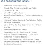 Accreditations & Certification https://t.co/t9MyA9Num7 Dont just take our word for it! #wirral #roofers https://t.co/IZRG1sX535