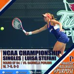 #WinnerWinner Stefani takes her opponent in the Round of 64, 7-5, 6-3 to advance! #WinningWaves https://t.co/8EGP71KLOe