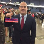 UFC fighter @titoortiz here at @realDonaldTrump Anaheim rally- tells me he endorses Trump. https://t.co/h7EOxoxzJ7