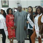 RT @melove4: Governor @AbdulfataAhmed with Beauty Queens from South Africa, India and Botswana in his Office, Ilorin https://t.co/suzmSlmWb3