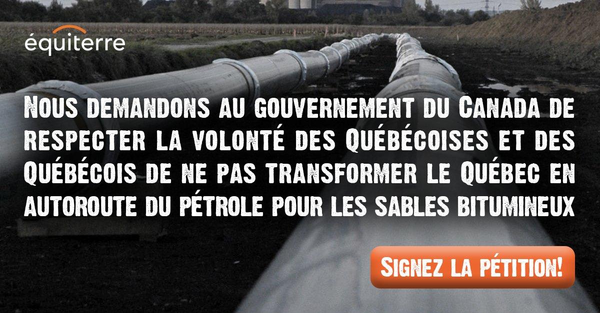 #ÉnergieEst : Le Canada doit respecter le refus des Québécois(es). Signez la pétition! https://t.co/sv6SZE33uK https://t.co/imuVNJ5iST