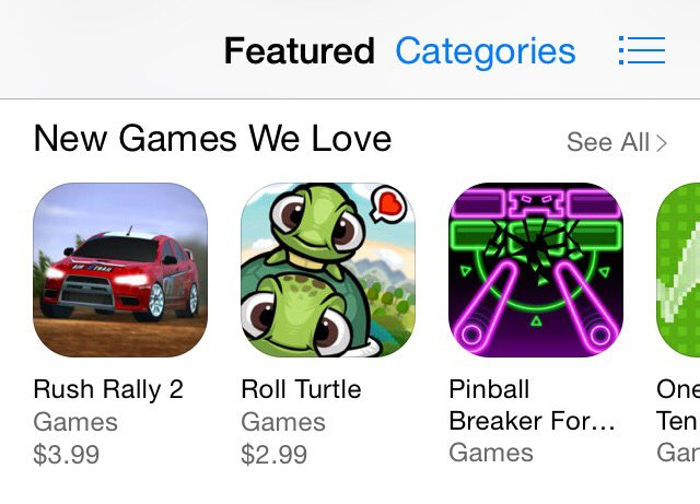 Congratulations to our friend @kirafuRyu for getting #RollTurtle featured by Apple! #MadeWithGameSalad #gamedev https://t.co/Dxh2Hxs1eU