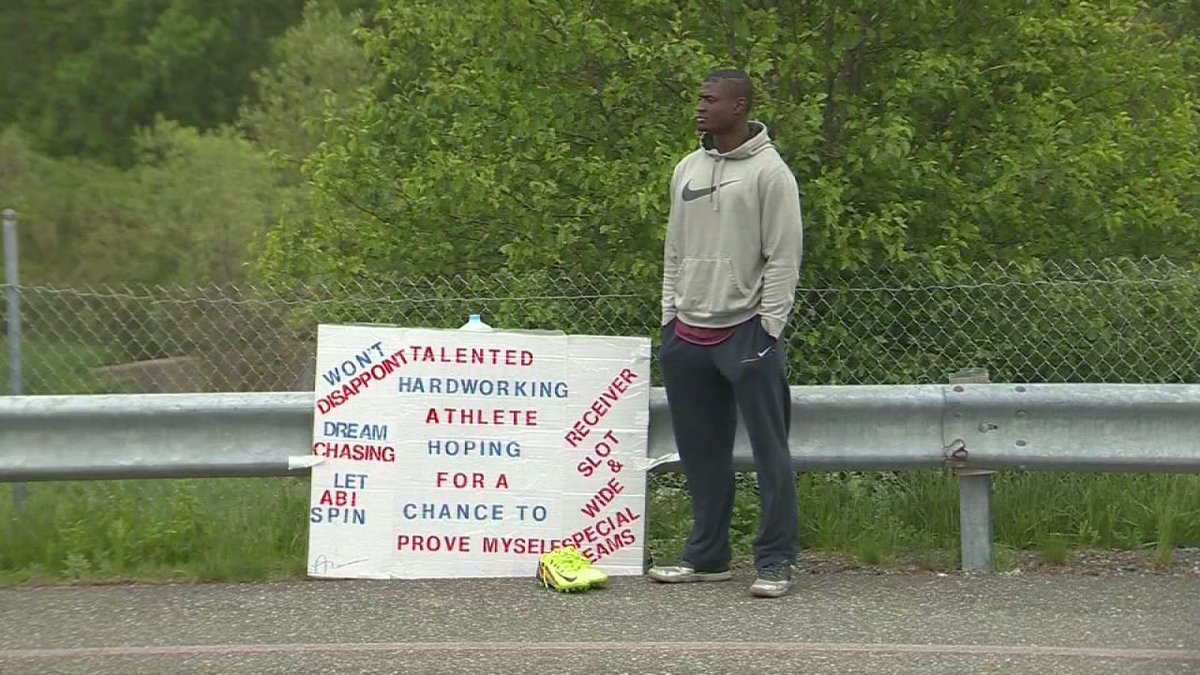 Man stands outside NFL stadium hoping for tryout: https://t.co/e94OFCu6WP