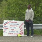 Man stands outside NFL stadium hoping for tryout: https://t.co/e94OFCu6WP https://t.co/eA1rEmXh5y
