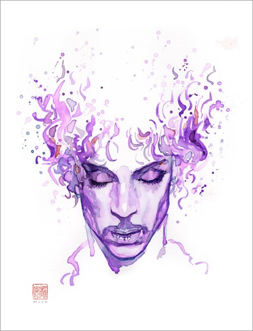 Beautiful cover of When Doves Cry by @olganunes. Animated PrincePortrait by @davidmackkabuki https://t.co/DKtoGBniL7 https://t.co/6b6zcdfD2V
