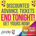 DONT QUEUE! Exchange your @BirminghamPride tickets at @Nightingaleclub Thurs & Fri from 9am! Save ???????? TONIGHT online! https://t.co/qzaXq42sou