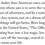 The difference between US and the UK, beautifully told in one paragraph by the New Yorker   https://t.co/phwDziqpxe https://t.co/vZtEN7jxKN