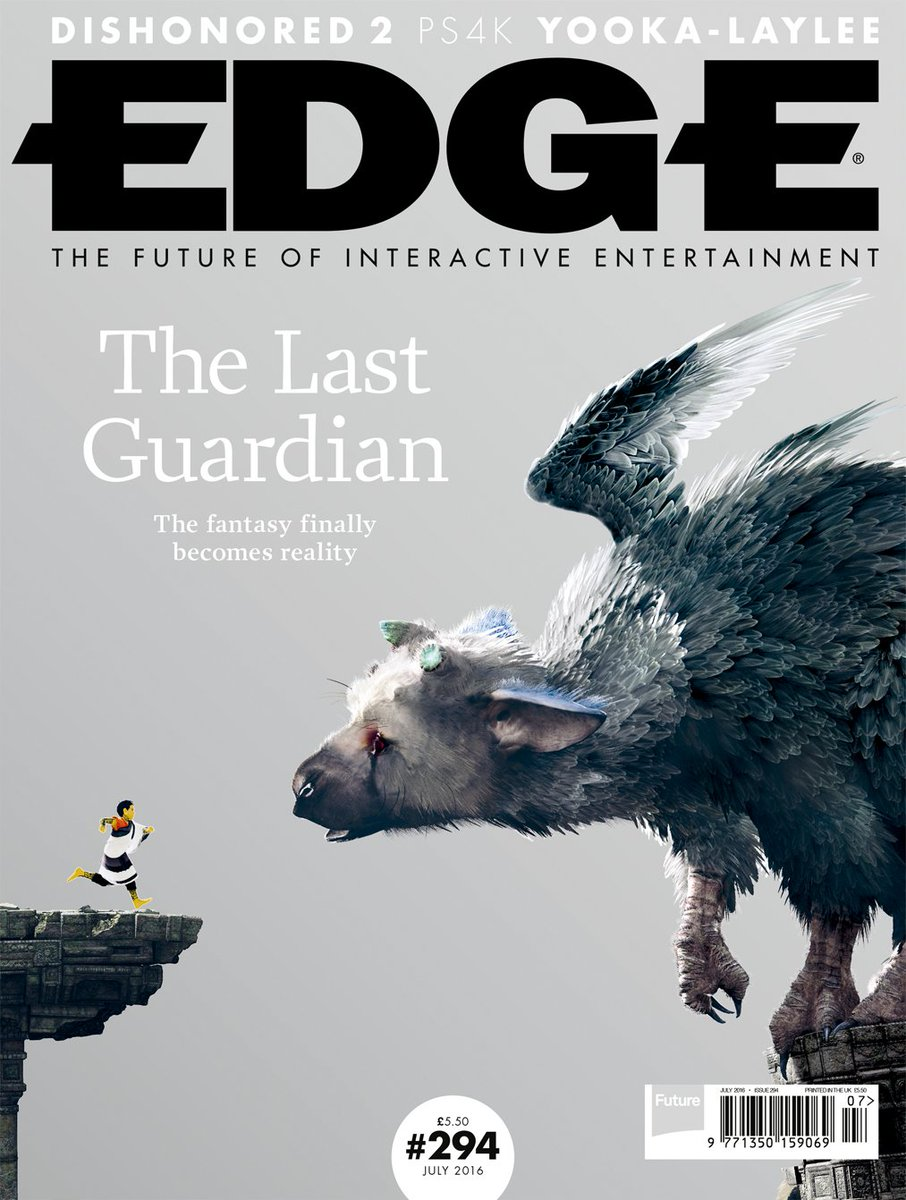E294: The fantasy finally becomes reality in our The Last Guardian cover feature, out now. https://t.co/pNvJmo8WCZ