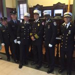 Recognized heroism of Hoboken Fire Dpt members during ceremony at City Hall - thanks to all for keeping Hoboken safe https://t.co/7aNnrYYiyL