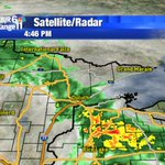 Heavy rain/lightning in WI, rain in MN all moving northeast. AC has your forecast coming up at 5! #KBJRWeather https://t.co/1MUVRNNZUB