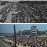 Fun #Indy500 fact: Before the stands were built, fans watched the race on their cars. #IMS #IUPUI #Indy https://t.co/ktL59TXhvg