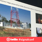 """""""Nurses get an sms alert letting them know when fridges break or vaccines are low."""" @DrPreciousLunga #signalconf https://t.co/Kd6fCy8hm2"""