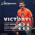 .@JaredHiltzik earns his third appearance in the @NCAATennis Singles Round of 32!! #ILLINI https://t.co/pC9T6cF9qN
