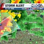 Tornado Warning - Marquette county until 6:45 pm.  SEEK SHELTER NOW!! #nbc26wx https://t.co/J6oj1ClHVA
