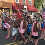 Honored to march in Hoboken #Memorial Day Parade w/my favorite Girl Scout! https://t.co/5jy0Y4IQmM