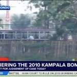 LIVE: Prisons bus carrying the court-bound 2010 bomb blasts suspects drives past Kyadondo. #KampalaAttacksVerdict https://t.co/P05Lyxck8H