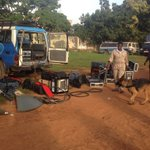Sniffer dog checks journalists equipment at high court for judgement of the 2010 terror suspects @observerug https://t.co/sJROJCoRxo
