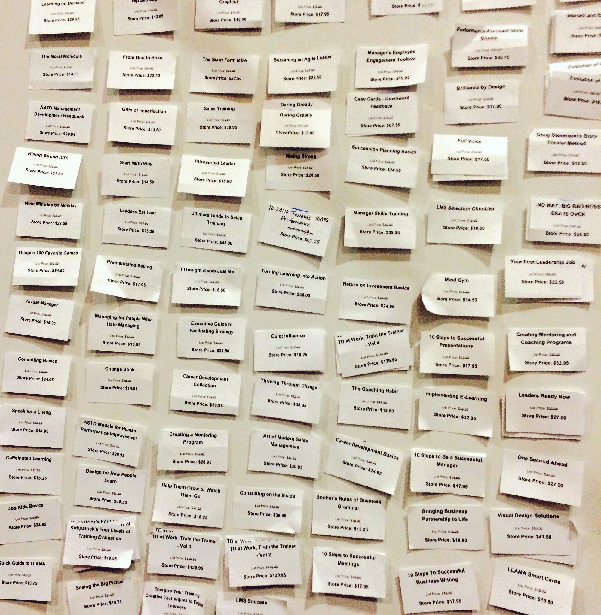 Just a small part of our sold out wall of fame. Another successful conference store complete! #ATD2016 https://t.co/8q4KMYQ36L