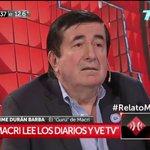 """Durán Barba: """"Mauricio lee los diarios y ve TV"""" https://t.co/sok1WYQFUi https://t.co/caFza2UXF5"""