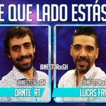 De que lado estás? #NestorPregunta DANTE (RT) LUCAS (fav) #AGUITAconYERBAenGH #EmpiezaElJuegoEnGH #GH2016 https://t.co/IjIPjcZ7cV