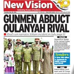 GUNMEN ABDUCT OULANYAH RIVAL - Details in the @newvisionwire Get the #Epaper via: https://t.co/diGxKJlGDb … https://t.co/lizBKjWoip