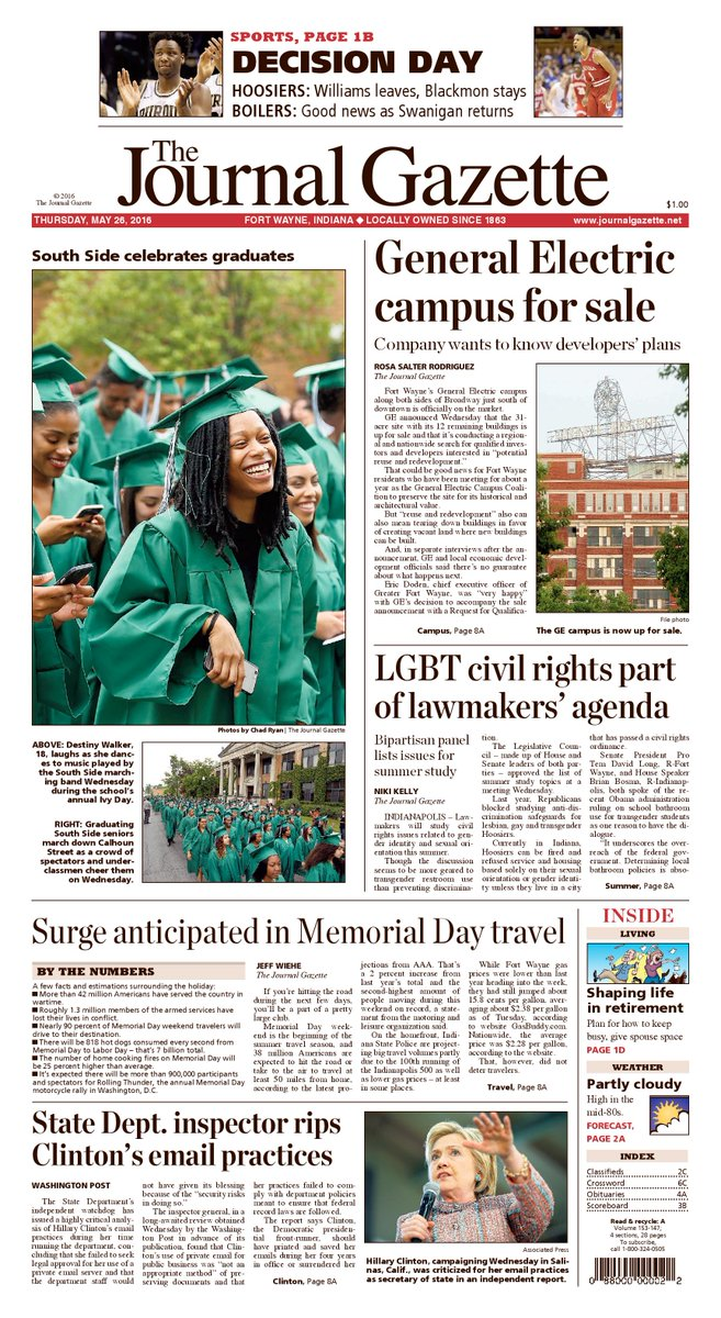 South Side's annual Ivy Day is featured on the front page of today's newspaper. https://t.co/mCjlrvCdPv