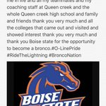 I would like to say thank you to everyone and that I have verbally committed to Boise State💯🏈7️⃣4️⃣ https://t.co/4CQG1Dy9J1