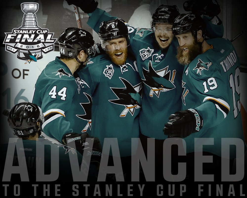 #SJSharks are headed to the #StanleyCup Final! https://t.co/Bufxgnq1I9