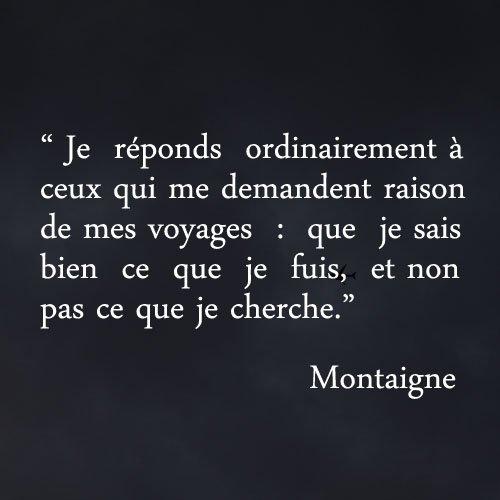 Les essais de Montaigne, texte inspirant et enrichissant #CitationDuJour #Voyage https://t.co/aVP035zSWm