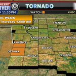 TORNADO WATCH has been issued. Get the latest storm updates on @KMBC & https://t.co/YVixiXGQqI #Mowx #Kcwx #Kswx https://t.co/2fA9FORzbv