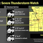 A severe thunderstorm watch is in effect until 4am for eastern KS and northwest MO. Tornadic threat is decreasing. https://t.co/9bapjrD74z