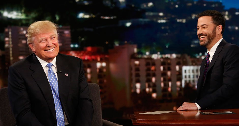 Donald Trump admits on Jimmy Kimmel to using aliases, but only to buy real estate