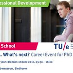 Your PhD.. What's next? Visit our Career Event for PhD students on June 8th! Register at https://t.co/KQsA3uxG4b https://t.co/wZHo1zINiZ
