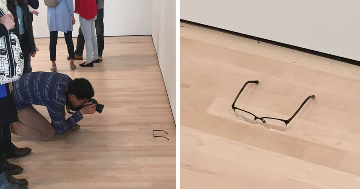 A pair of glasses were left on the floor at a museum and everyone mistook it for art https://t.co/ms6Bwp3Cbf https://t.co/90aRvkKN2T
