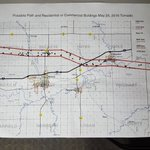 The path the May 25th tornado is believed to have taken. Black dots are structures - houses, barns, buildings, etc. https://t.co/DEzaXoxFZv