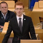 21 year old @Ross_Greer gives his 1st speech as a MSP, making the case for a Peoples Europe & a remain #EUref vote. https://t.co/BRrWcOhqlQ