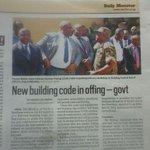 New building Code in offing https://t.co/ZEF45m6RRO @MoWT_Uganda @DailyMonitor @KCCAUG @UIDC_UG @ugandainvest https://t.co/Q5VTOIYGX5